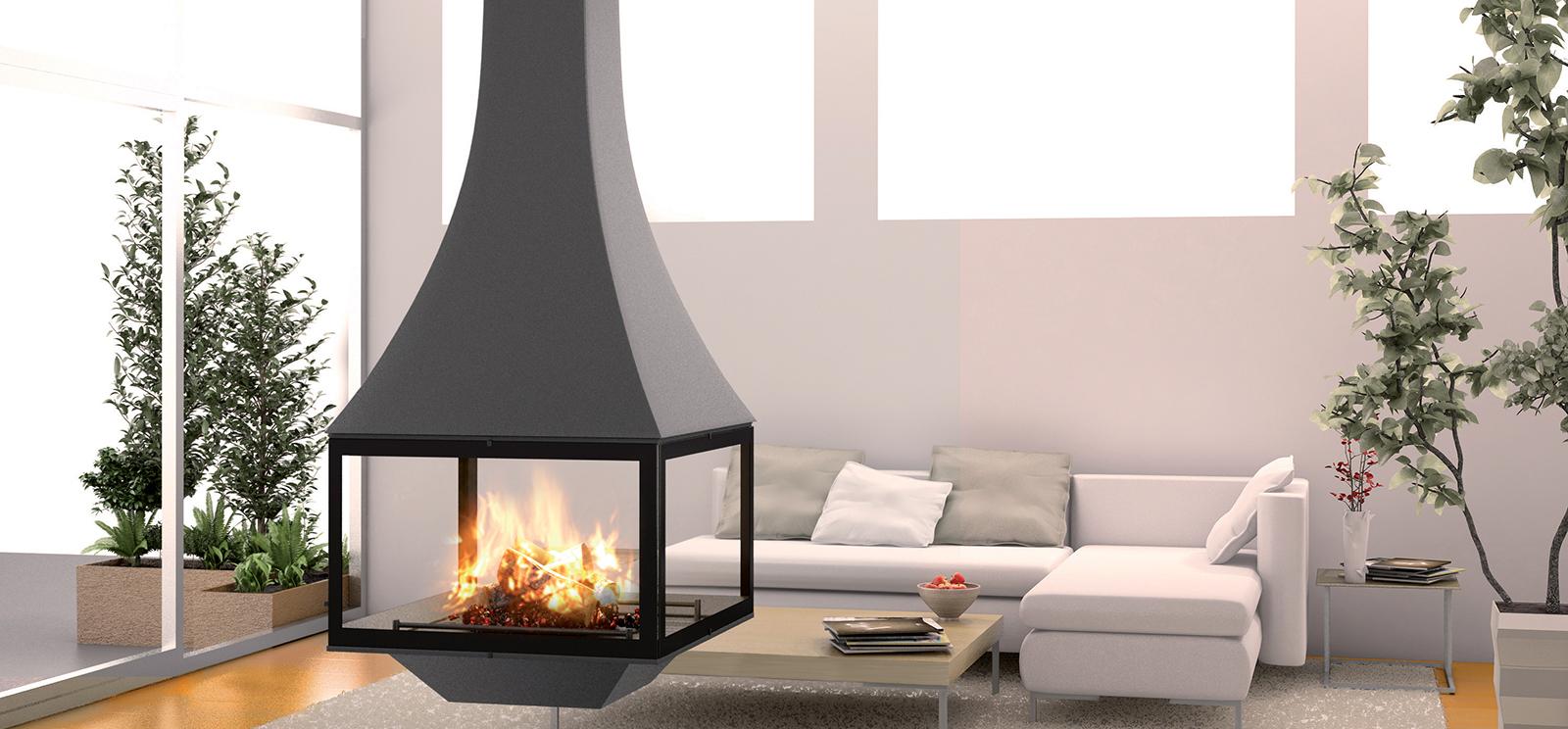 cheminée métallique: pour un intérieur moderne   jc bordelet
