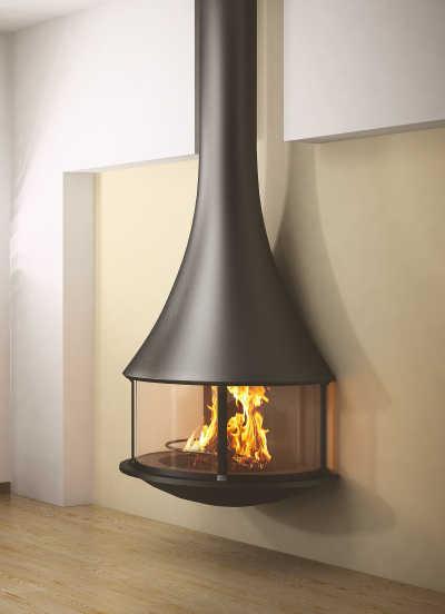 Jc Bordelet Designkamin Moderner Kamin Aufgehangter Ofen