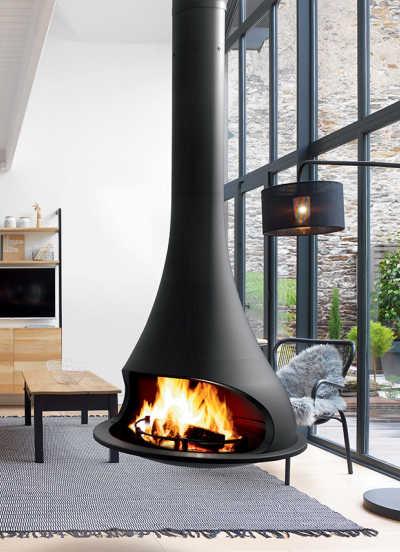 JC Bordelet : cheminée design, cheminée moderne & poêle suspendu